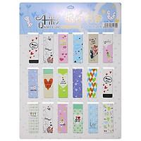 Combo 18 Bookmark Nam Châm Đánh Dấu Sách - Love (Mẫu Ngẫu Nhiên)