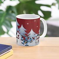 Cốc sứ  cao cấp in hình  cây thông giáng sinh siêu đẹp - Cốc quà tặng Noel