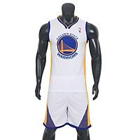 Bộ quần áo bóng rổ Warriors - Trắng