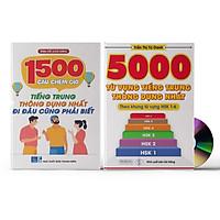 Combo 2 sách: 1500 Câu chém gió tiếng Trung thông dụng nhất + 5000 từ vựng tiếng Trung thông dụng nhất + DVD