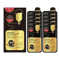 Combo 10 Mặt Nạ Giấy 4D Than Tre Cấp Ẩm, Dưỡng Săn Chắc Da, Chống Lão Hoá Mediheal Bamboo Charcoal 4D Black Mask 25ml x10