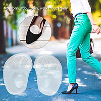 3pairs Drop-Shaped Feet Cushion Inserts Feet Grips Silicone Shoe Pads for Women Loose Shoes and High Heels Shoe Too Big