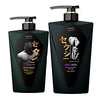 Combo dầu gội Hasi Kokeshi 380g và sữa tắm 550g Hasi Kokeshi cho Nam