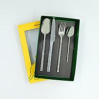 Bộ dao muỗng nĩa INOX cao cấp 4 món DCS-03