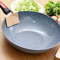 Chảo Vân Đá Ceramic 32cm Sâu Lòng, Dùng Được Cho Mọi Loại Bếp