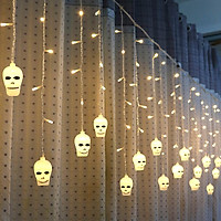 LED Window Curtain String Light Party Hallowmas Outdoor Indoor Wall Decorations