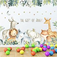 Sticker Giấy Dán Tường Decal Dán tường Mẫu Sở thú ZH023