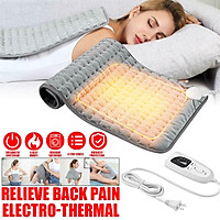 120/75W Electric Large Heating Pad Easy Cleaning Washable For Back Pain Machine Soothing Heat In 30 Seconds For Neck/Shoulder/Elbow