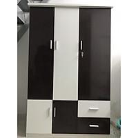 Tủ nhựa Đài Loan 3 cánh trắng phối đen 1m65x1m05