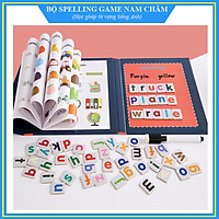 Bộ Spelling Game - Học ghép vần, từ vựng tiếng Anh (Dạng sách cao cấp, chữ nam châm)