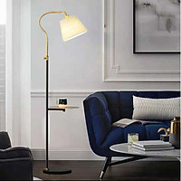 Đèn cây đứng phòng khách - đèn sàn đứng trang trí có đế bàn trà kèm bóng led 3W L1189