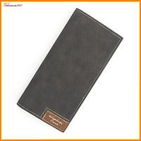 Bóp ví dài nam, bóp ví cầm tay thời trang chất da cao cấp có nút bấm và ngăn đựng thẻ