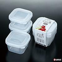 Set 3 hộp đựng thực phẩm sạch, đồ khô, tươi sống bằng nhựa PP cao cấp 500mL - Hàng nội địa Nhật