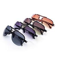 Men Fashion Classic UV400 All-macth Frameless Anti-uv Driving Sunglasses