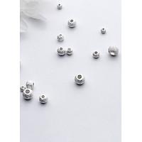 Combo charm bi bạc họa tiết xỏ ngang - Ngọc Quý Gemstones