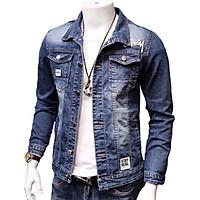 Áo khoác jeans nam , áo khoác nam xanh KH01 form vừa mềm co dãn lôi cuốn có 3 size (M L XL) Julido mẫu khoác AKJ8687 thời trang lịch lãm hàn quốc trẻ trung hiện đại