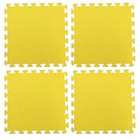 Bộ 4 tấm Thảm xốp lót sàn an toàn Thoại Tân Thành - màu vàng (50x50cm)