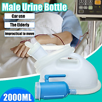 Blue and White Male Urinal Urine Bottle 2000ml for Travel & Camping
