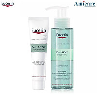 Combo Eucerin Tinh Chất Và Sữa Rửa Mặt Giảm Mụn Proacne A.I Clearing Treament 40ml & Cleansing Gel 200ml