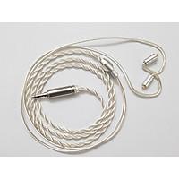 Dây nâng cấp Crystal Copper OCC Silver Plated cao cấp, lõi đơn OD2.0mm, chân cắm MMCX, 2 Pin 0.78mm, QDC ( KZ C )