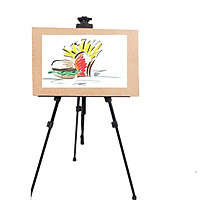 Giá vẽ, giá kệ để tranh 3 chân gấp xếp sơn tĩnh điện