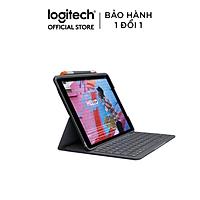 Bàn Phím Không Dây Logitech Slim Folio dành cho iPad Gen 7/Gen 8/Gen 9 - Đen - Hàng Chính Hãng