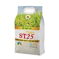Gạo Thơm Đặc Sản ST25 Hạt Ngọc Trời Túi 5Kg - Cơm mềm dẻo, vị ngọt, thơm nhẹ - Đạt giải gạo ngon nhất thế giới 2019