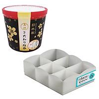 Combo hộp 180 bông ngoáy tai + khay đựng đồ lót 6 ngăn cao cấp nội địa Nhật Bản
