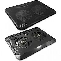 Đế tản nhiệt laptop 2 quạt USB có đèn led Cooling N1130