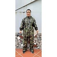 Bộ quần áo mưa rằn ri lính cao cấp chống thấm