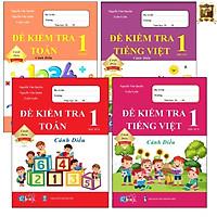 Sách - Combo Đề Kiểm Tra Lớp 1 Cả Năm - Toán và Tiếng Việt Cánh Diều (4 quyển)