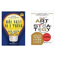 """Combo Sách Tư Duy: Nghệ thuật tư duy chiến lược + Mỗi ngày 10 ý tưởng rèn luyện """" Cơ bắp """" sáng tạo"""