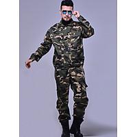 Bộ Quần Áo Lính Mỹ US ARMY Rằn Ri Túi Hộp Chiến Thuật [Tặng Thắt Lưng]