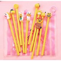 Bộ 10 Chiếc Bút Bi Hàn Quốc Cùng Túi Đựng Siêu Dễ Thương.  Đồ Dùng Văn Phòng Phẩm Cho Bé STPP69NYN1618