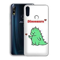 Ốp lưng dẻo cho điện thoại Zenfone Max Pro M2 - 01219 7877 DINOSAURS04 - Khủng long dễ thương - Hàng Chính Hãng