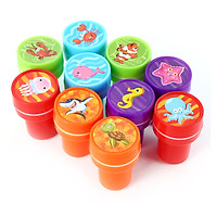 10 PCs Assorted Sea Animals Stamps Kids Party Favors Event Supplies for Birthday Party Gift Toys Boy Girl Pinata Fillers