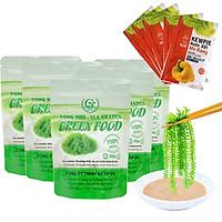 COMBO 5 túi zipper RONG NHO GREEN FOOD + tặng kèm 5 túi xốt 15ml (mỗi túi 100gram nở được 250gram tươi)
