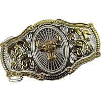 Vintage Pattern Decorative Belt Buckle  Antique Western Belt