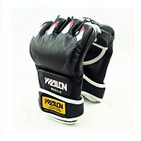 Găng tay đấm MMA wolon - đen