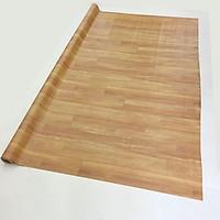 Thảm nhựa simili trải sàn vân gỗ màu vàng