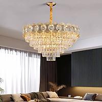 Đèn chùm pha lê cao cấp thiết kế sang trọng trang trí phòng khách, bàn ăn, nhà hàng, quán cafe CFL-A135