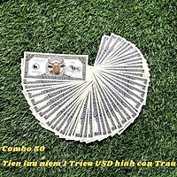 Combo 50 Tiền Lưu Niệm 1 Triệu USD Hình Con Trâu - TMT COLLECTION - SP005078