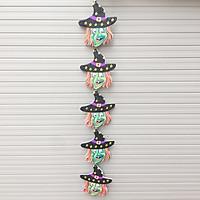 Dây trang trí Halloween 5 hình dài 75cm mẫu phù thủy