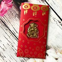 Bao Lì Xì Thần Tài Mạ Vàng May Mắn - Với Tông màu đỏ mang lại nhiều may mắn được mọi người rất ưa chuộng ngày tết - Thích hợp tặng người thân hoặc bạn bè ngày đầu xuân - TMT Collection