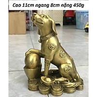 Tượng chó kim tiền chất liệu đồng thau MS64g