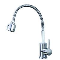 Vòi rửa bát nóng lạnh bằng SUS304 cần mềm cắm chậu BVN 807 ( Bao gồm 1 đôi dây cấp inox 304)