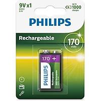 Pin Sạc Philips NiMH 170mAh 9VB1A17/10 (1 Viên 9V)