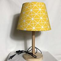 Đèn bàn trang trí - Đèn ngủ gỗ - đèn ngủ để bàn - đèn ngủ đầu giường DB-E01 - Họa tiết vàng đã bao gồm bóng LED chuyên dụng