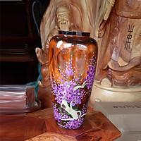 Lọ hoa gỗ tràm cao 30cm