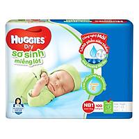 Miếng Lót Sơ Sinh Huggies Dry Newborn 1-100 (100 Miếng)
